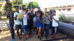 Initiation à la boxe -1ère journée d'acceuil des jeunes du dispositif PREMICES - Octobre 2017